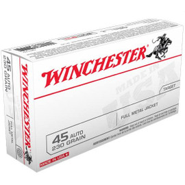 500 Rounds Winchester .45 ACP 230 Grain FMJ - Made in USA!