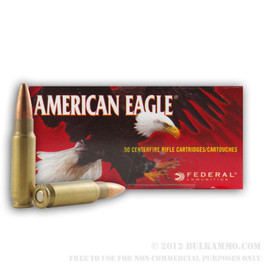 500 Rounds Federal American Eagle 5.7x28 40gr TMJ packaged in 50 round boxes - Made in USA