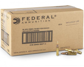1000 Rounds Federal American Eagle .223 55 Grain FMJ-BT - Made in USA! AE223BKX