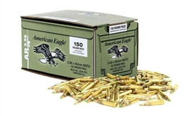 150 Rounds Federal American Eagle XM855 5.56x45mm NATO 62gr Green-Tipped Penetrator FMJ - Made by Lake City Ammunition Plant in USA!