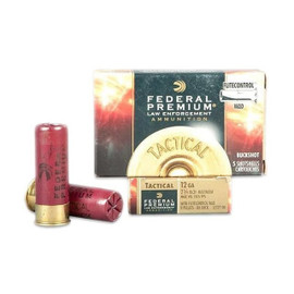 "250 Round Case Federal Premium Law Enforcement Tactical Buckshot LE127 00 - 12 GA 2-3/4"" 00 Buck, 9 Pellet"