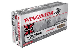 20 Rounds Winchester Super-X 7.62x39 123 Grain JSP - Superior Terminal Performance for AK-47!