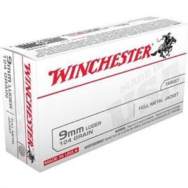 1000 Rounds Winchester Q4318 - 9mm Luger NATO 124 Grain FMJ