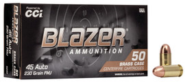 500 Rounds Blazer Brass .45 ACP 230 Grain FMJ - 5230 - Minimum 2