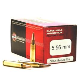 500 round Case Black Hills Ammunition Factory New D556N1 - 5.56 NATO 50 Grain Barnes TSX Triple-Shock X - Best Barrier-Blind 5.56 Round!