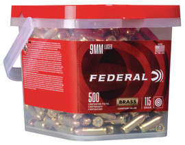 500 Rounds Federal Premium Champion 9mm 115gr FMJ WM5199B500