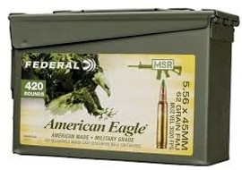 420 Rounds Federal American Eagle 5.56 NATO XM855 62gr FMJ in Ammo Can