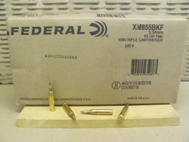 1000 Rounds Federal American Eagle XM855 5.56x45mm NATO 62gr Green-Tipped Penetrator FMJ - Made by Lake City Ammunition Plant in USA! XM855BKF