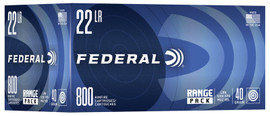 800 Round Range Pack Federal .22LR 40 Grain Lead Round Nose - Minimum 4 boxes