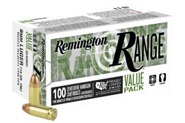 600 Rounds Remington 9mm 115gr FMJ Target Ammo in 100 round boxes T9MM3B