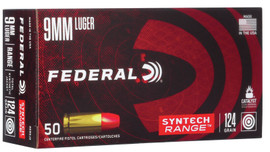 500 Round Case Federal Syntech Range 9mm 124gr Synthetic Jacket Round Nose in 50 round boxes - AE9SJ2 - Minimum 2 Cases