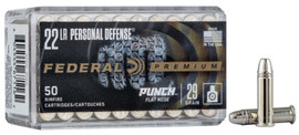 5000 Round Case Federal Premium .22LR 29gr Punch Flat Nose Personal Defense in 50 round boxes