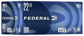 3200 Round Case Federal .22LR 40 Grain Lead Round Nose in 800 round range packs