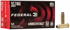 50 Rounds Federal American Eagle .357 Magnum 158 Grain JSP - Minimum 5