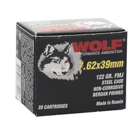 1000 Round Case WOLF 7.62x39 122gr FMJ