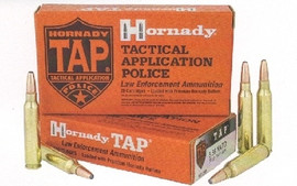 20 Round Box Hornady 81295 - 5.56 NATO 75 gr. BTHP TAP - Police Duty Round for Short Barreled Rifles - Must buy 5 or more