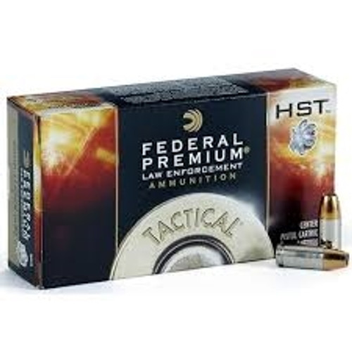 1000 round case Federal Premium LE Tactical P9HST3 - 9mm 124gr +P HST Jacketed Hollow Point in 50 round boxes