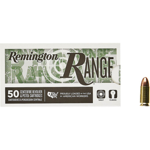 500 Round Case Remington 9mm 115gr FMJ Target Ammo in 50 round boxes - Minimum 2 Cases