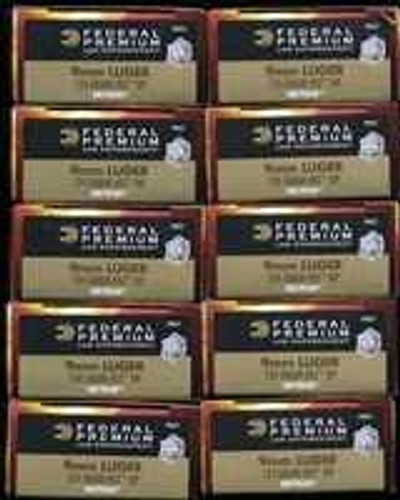 500 rounds Federal Premium LE Tactical P9HST1 - 9mm 124gr HST Jacketed Hollow Point in 50 round boxes