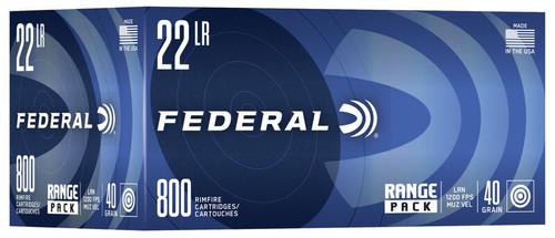 800 Round Range Pack Federal .22LR 40 Grain Lead Round Nose - Minimum 4 boxes