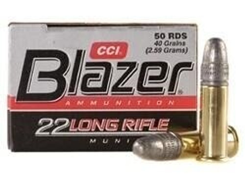 5000 Round Case CCI Blazer .22LR 40 gr LRN Bullet with Brass Casing