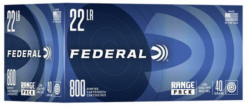 3200 Round Case Federal .22LR 40 Grain LRN in 800 round range packs - No Limits, Fast & Economical Shipping!