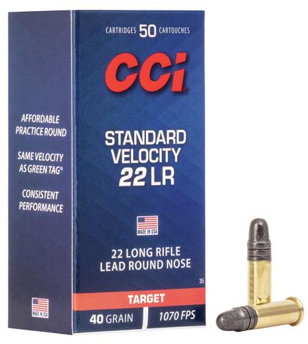 2500 Rounds CCI 0035 Standard Velocity Ammunition 22 Long Rifle 40 Grain Lead Round Nose