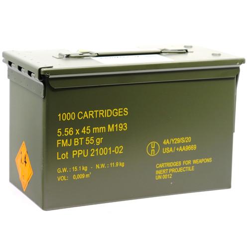 1000 Rounds Prvi Partizan 5.56 NATO M193 55 Grain FMBTJ in Metal Ammo Can
