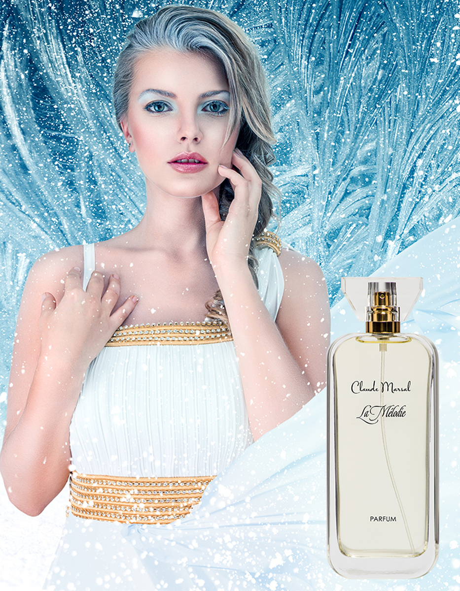 """""""La Melodie"""" is a perfume centered on the idea of natural and pure beauty, freedom from conventions and the choice of once own vision of happiness. Using exquisite, natural ingredients, Claude Marsal elegantly intertwines the vibrant top notes of iris and orange blossoms with the deep base note of gourmand. Floral flirts with the strength to create the ultimate feminine fragrance. """"La Melodie"""" belongs to the Sweet and Floral Fragrance Family."""