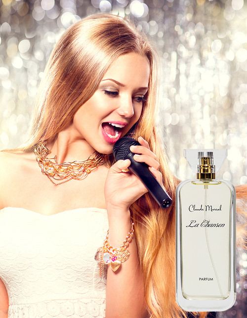 """La Chanson"" is a sparkly floral woody fragrance, fresh and feminine at the same time. It is devoted to a sophisticated, seductive, and dazzling woman, who at the same times strives for simplicity. ""Le Chanson"" belongs to the Floral and Citrus Fragrance Family  THE NOTES TOP NOTES The perfume opens with Bergamot, Pepper, and Spicy Notes. HEART NOTES It continues to the foundation of delicate Jasmine, Rose, Plum, Fruits, and Tea. BASE NOTES The last touch of the perfume is Musk and Sandalwood unfolding the entire soul of the perfume."