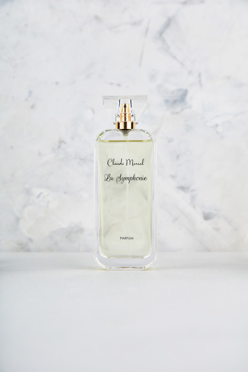"""""""La Symphonie"""" is an elegant perfume for the soft, and delicate woman who at the same times strives to be passionate. """"La Symphonie"""" belongs to the Floral and Fruity Fragrance Family.  TOP NOTES The perfume opens with Grapefruit and Quince. HEART NOTES It continues to the foundation of beautiful Jasmine and Hyacinth. BASE NOTES The last touch of the perfume is Amber, White Musk, Iris, and Virginia Cedar unfolding the entire soul of the perfume."""