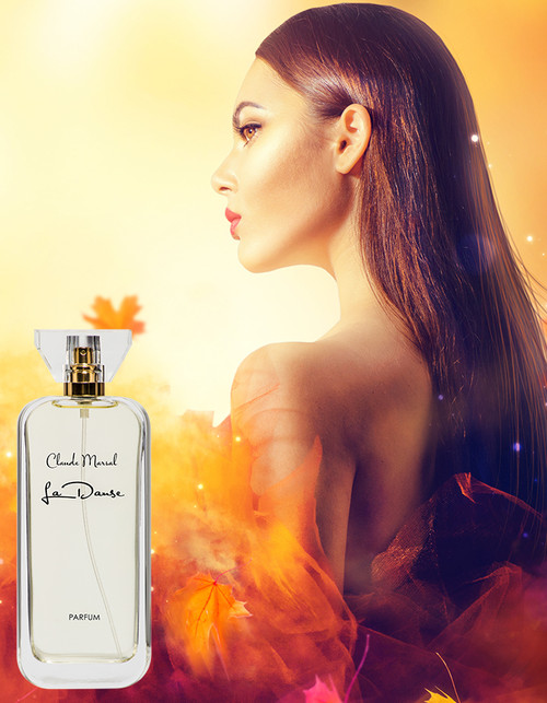 """La Danse"" for women is a whimsical and elegant perfume created by Claude Marsal for the sophisticated and sensual woman. ""La Danse"" belongs to the Floral and Fruity Fragrance Family.  TOP NOTES The perfume opens with Mandarin Orange, Melon, Bergamot, Pear, Peach and a touch of Magnolia. HEART NOTES It continues to the foundation of pure and precious Rose, Lily of the Valley, Jasmine, Freesia, Orchid, Tuberose, and Violet with a touch of Plum. BASE NOTES The last touch of the perfume is Musk, Vanilla, Cedar and Blackberry unfolding the entire soul of the perfume."