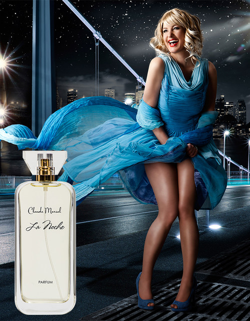 """La Noche"" is an enticing and radiant scent created by Claude Marsal for the more distinctive and glamorous woman. ""La Noche"" belongs to the Sweet and Fruity Fragrance Family.  TTOP NOTES The perfume opens with Amalfi Lemon, Neroli, and delicious Raspberry. HEART NOTES It continues to the foundation of delicate Gardenia, Jasmine, and African Orange Flower.  BASE NOTES The last touch of the perfume is White Honey, Patchouli, and Amber unfolding the entire soul of the perfume."
