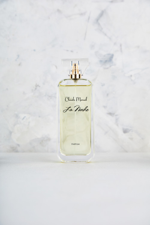"""""""La Noche"""" is an enticing and radiant scent created by Claude Marsal for the more distinctive and glamorous woman. """"La Noche"""" belongs to the Sweet and Fruity Fragrance Family.  TTOP NOTES The perfume opens with Amalfi Lemon, Neroli, and delicious Raspberry. HEART NOTES It continues to the foundation of delicate Gardenia, Jasmine, and African Orange Flower.  BASE NOTES The last touch of the perfume is White Honey, Patchouli, and Amber unfolding the entire soul of the perfume."""