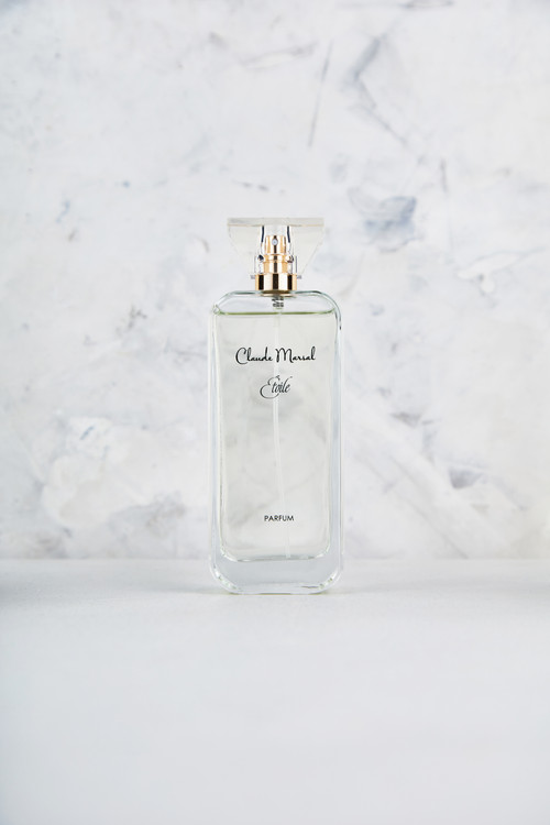 """""""Etoile"""" for women is an exhilarating fragrance created by Claude Marsal for the more natural yet feminine and ambitious woman. """"Etoile"""" belongs to the Citrus and Floral Fragrance Family.  TOP NOTES The perfume opens with Petitgrain and Green Lilac HEART NOTES It continues to the foundation of delicate Red Peony, Chinese Osmanthus, Peach Blossom, Wisteria and Green Tea. BASE NOTES The last touch of the perfume is Cedar, Musk, and Amber unfolding the entire soul of the perfume."""
