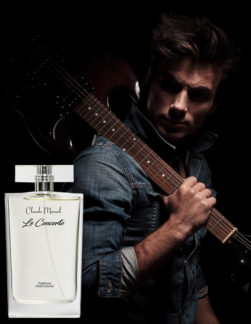 """Le Concerto"" is a fragrance for men announced as a fresh and sensual blend of notes with the glittery shine of gold. Complexity helps to create this elegant, intricate scent. With fresh top notes of grapefruit and peppermint clashing with the musky, yet the spicy heart of cinnamon and rose absolute and the deep base of velvety leather and amber ketal, this scent evokes all the senses with confidence sensuality. ""Le Concerto"" belongs to the Spicy & Vanilla Fragrance Family."