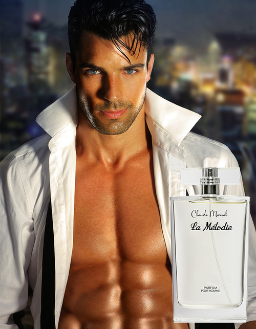 """La Melodie"" for men is an oriental-woody, leather scent, exciting, vibrant and luxurious. The composition combines layers of explosive whiskey accords. ""La Melodie"" is an unpredictable clash between the rich base notes of oak moss and guaiac wood and the fresh top notes of grapefruit and an ozone accord. A magnificent combination of woody and aquatic scents, Claude Marsal, epitomizes masculinity and vigor. ""La Melodie"" belongs to the Aromatic and Spicy Fragrance Family.  TOP NOTES The perfume opens with Mandarin, Grapefruit and Sea Notes. HEART NOTES It continues to the foundation of luxurious Jasmine and Bay Leaf. BASE NOTES The last touch of the perfume is Oakmoss, Guaiac Wood, Ambergris, Patchouli and explosive Whiskey."