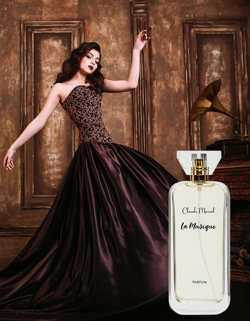 """La Musique"" is an explosive, luxury, and erotic Tuberose perfume. It is for women who are daring and unique but also refine and glamorous.  THE NOTES TOP NOTES The perfume opens with delicate Freesia, Incense, Chinese Osmanthus, and Tamarind HEART NOTES It continues to the foundation of explosive Peony, Iris, Tuberose, Arum Lily and Orris Root. BASE NOTES The last touch of the perfume is Cashmere Wood, Musk, and Vetiver unfolding the entire soul of the perfume."