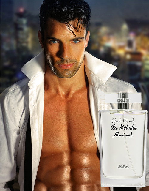 """La Melodie Maximal"" for men is a magnificent combination of woody and aquatic scents, Claude Marsal, epitomizes masculinity and vigor. The perfume has a 36% oil fragrance concentration which gives you a potential Parfum that will last longer and intensifies your virility and strength."