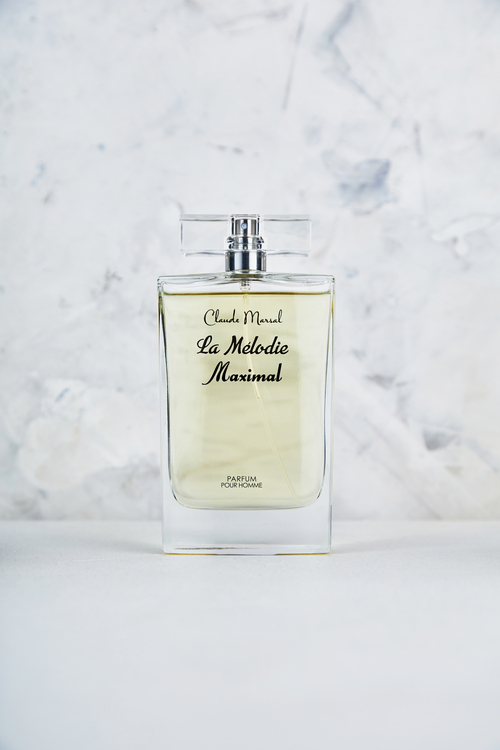 """""""La Melodie Maximal"""" for men is a magnificent combination of woody and aquatic scents, Claude Marsal, epitomizes masculinity and vigor. The perfume has a 36% oil fragrance concentration which gives you a potential Parfum that will last longer and intensifies your virility and strength."""