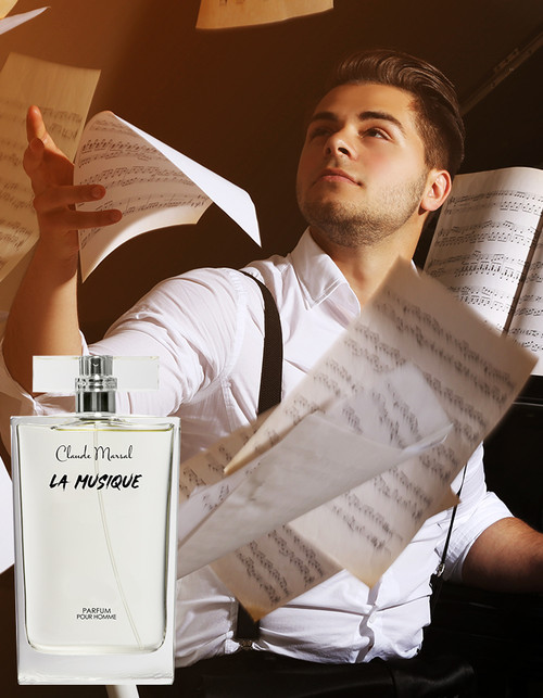 "THE CONCEPT ""La Musique"" is an aromatic and fresh spicy fragrance for the man who is classic and daring. The deeply contradicted Perfume, infused with fresh spicy notes; offers an intense concentration of the fresh mint, and vibrant lavender. Vigorous and erotic.   THE DESIGN ""La Musique"" belongs to the aromatic and fresh spicy family. Its overture is green and floral notes, followed by fresh spicy notes. Amber and Tonka beans notes are the grand finale that unfolds the entire body of the perfume.   THE NOTES TOP NOTES The perfume opens with Artemisia, Lavender, Mint, Bergamot, and Cardamom. HEART NOTES It continues to the foundation of Caraway, Orange Blossom, and Cinnamon. BASE NOTES The last touch of the perfume is Sandalwood, Tonka Beans, Amber, Vanilla, and Cedar."