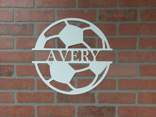 Custom Sports Soccer  Monogram Sign