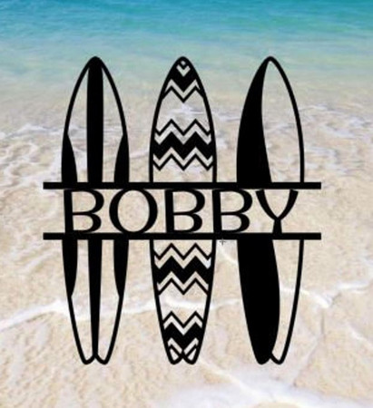 Beach Surfer Personalized Sign