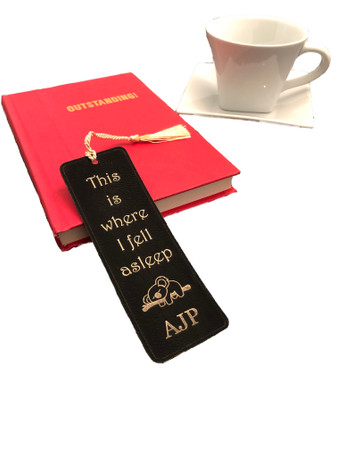 Where I Fell Asleep Personalized Leatherette Bookmark