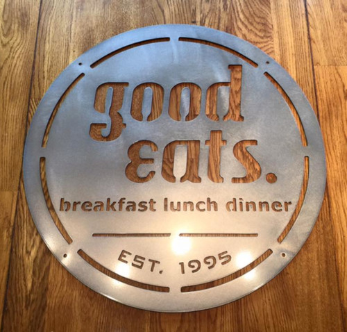 Good Eats Kitchen Diner Sign - 20""