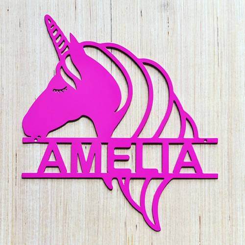 Unicorn Split Monogram Sign