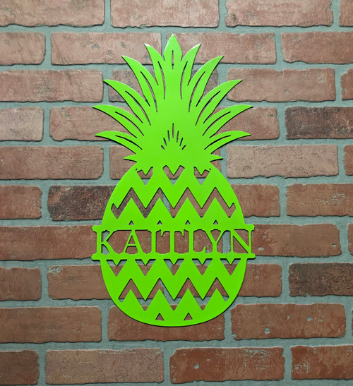 Pineapple Name Sign Chevron