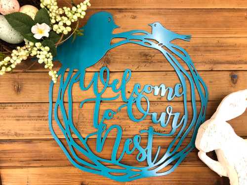 Welcome to Our Nest Wreath Sign