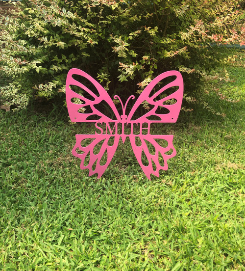 Butterfly Monogram Sign