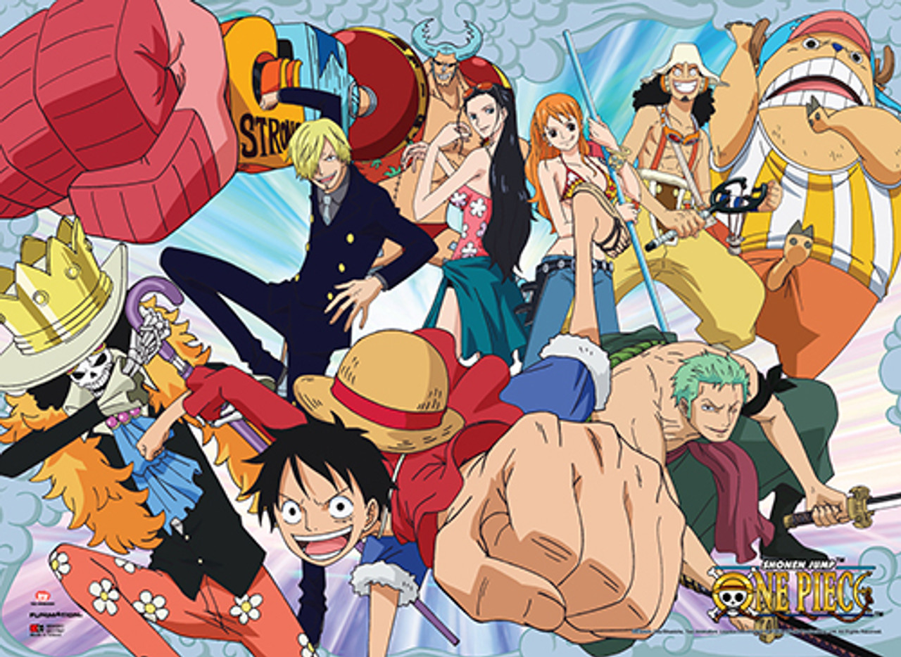 One Piece Straw Hat Crew After Timeskip Wall Scroll - Stella's Belle